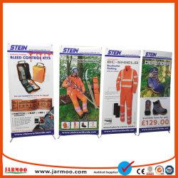 Neuer Typ preiswerte Messeen-Bildschirmanzeige der Plastik- und der Glasfaser-60*160cm X Fahnen-Standplatz-X