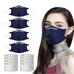 冬、暖かく、ちり止めの、通気性およびスモッグが多いマスクの人そして女性のためのPm2.5綿マスクのマスク弁の挿入によって作動するカーボン