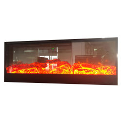 Marmorkamin-Einlage Fernsehapparat-Standplatz LED, der dekorativen elektrischen Kamin beleuchtet