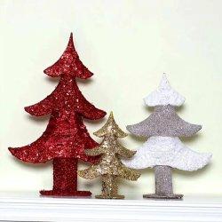 Kerstboom van het Ornament van het Venster van het Ornament van Kerstmis van de Kunst van het ijzer uit:hollen-uit de Nieuwe Gouden