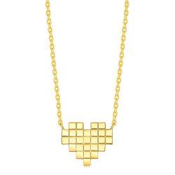 Zilveren Juwelen van de Halsband van de Halsband van het Hart van het Mozaïek van de Gift van de Dag van de valentijnskaart de Echte Zilveren