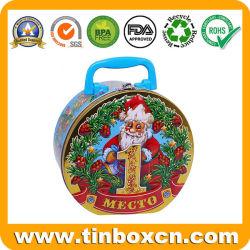 L'Emballage de cadeau de Noël de gaufrage Premium peut traiter d'étain métallique pour des bonbons au chocolat Boîte à lunch