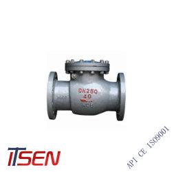 Pn40 DN250 литая углеродистая сталь конец с фланцем обратный клапан поворотного механизма