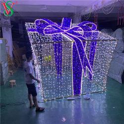 Коммерческие дисплей большой открытый Стрит Рождество привели подарочной упаковке мотивы фонари