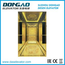 ホテルのためのステンレス鋼の乗客のエレベーターをエッチングする贅沢な金ミラー