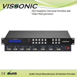 Конференция системы 4X4 сшитых универсальный коммутатор и видео процессора на стене