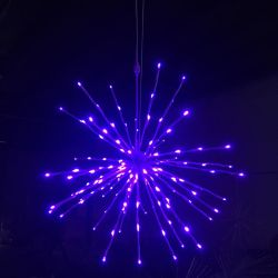 Indicatori luminosi di natale esterni della cascata di vendita della parte superiore della stella LED della decorazione del metallo LED del cerchio dell'indicatore luminoso bianco caldo a spirale caldo dell'albero
