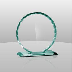 Jade Premios onda redonda de cristal con base