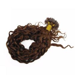 """Remyの毛20の""""まっすぐの女性の拡張自然なブロンドカラー前に担保付きの毛のためのケラチンの平らな先端の人間の毛髪"""