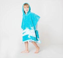 Оптовый продавец пользовательских печатных детский пляж полотенце колпачковая Poncho полотенце