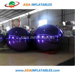 Espejo púrpura inflable hecho personalizado Globo para decoración de publicidad