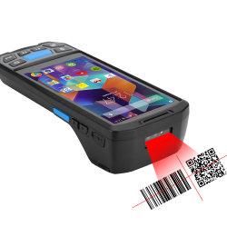 ماسحة الرمز الشريطي محمولة تعمل بنظام Android 7.0 Mini Data Collector بحجم 5 بوصات مع طابعة حرارية