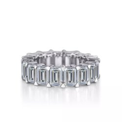 925 jóias de prata baguetes White CZ Design do anel de diamantes Clássico
