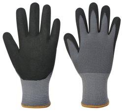 15 Doublure en nylon de jauge et de Spandex gant de travail, gant de travail en nitrile Micro-Foam respirante, certifiées CE Gant de sécurité