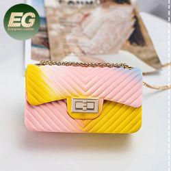Sh1450 Fashion Mini sac de jeune fille de la gelée de bonbons Jelly Sac Crossbody Mesdames Silicone Sac Rainbow Jelly
