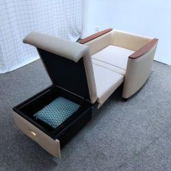 Sofá cama plegable individual con almacenamiento moderno sofá cama Hotel Sofá cama para atención médica en el hospital