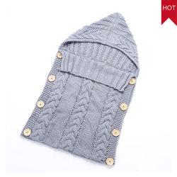 Il bambino appena nato lavorato a maglia cotone del commercio all'ingrosso della fabbrica del ODM dell'OEM Swaddle la coperta dell'involucro