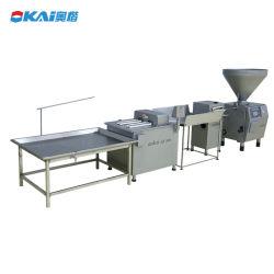 Máquina electrónica Venta Directa de Fábrica Sausser congelados tocino salchicha empaquetadora máquina atado