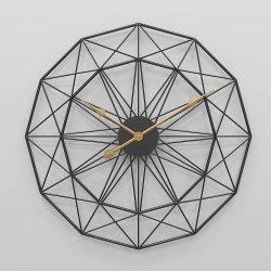 Relógio de parede de metal