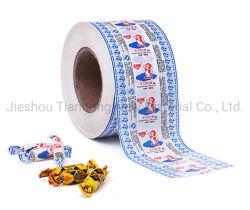 Revêtement de cire d'emballage de confiserie Twist papier imprimé du rouleau de papier de l'enrubanneuse de bonbons
