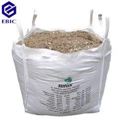 4400lb Defletor Loops de canto a linga de Areia Cúbicos Ton FIBC Granel Jumbo Q ventilada adubo lenha de PP de cimento plástico de embalagem Big Bag Super Sack