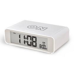 寝室の装飾フリップオン/オフ機能の大きい番号LCDデジタルデスクトップの接触夜ライト居眠り表の目覚し時計