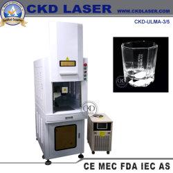 Máquinas para impressão gravura UV para marcação de logotipo em plástico de vidro