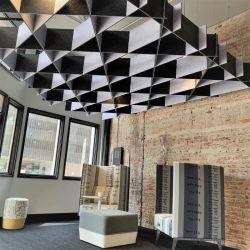 feuerbeständiges Faser-akustisches Panel des Polyester-3D/Decken-Wand
