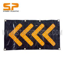 LEDの方向印の磁石の磁気背部LED方向警告のシェブロンが付いている携帯用交通信号の方位指示器