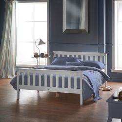 Marco de la cama doble de madera