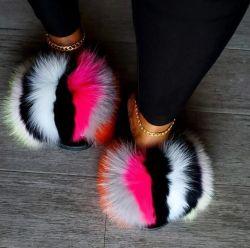 2021 도매 모피 슬라이드, 여성용 샌들, 여성용 신발 모피 슬리퍼 제조업체