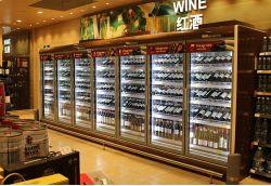 закаленное стекло двери магазин вина пиво дисплей Охлаждение кабинета