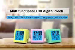 China-preiswerter antiker Minielektronischer Kind-Nachtlicht-Tisch-Plastikschreibtisch reisende Alarmuhr LCD-Digital für Hauptdekoration