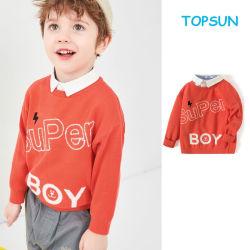 最もよい設計ウールのカーディガンは良質の子供の男の子の上で編まれた セーター