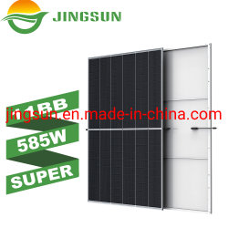 Jingsun 11bb 시스템을%s 큰 힘 에너지 585W 595W 605W 단청 태양 전지판 세포
