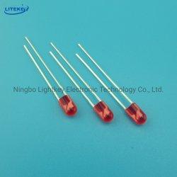 LED ovale rosso da 4 mm ad alta luminosità con RoHS