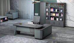 2021 Nouvelle conception E1 MDF de bureau en bois en forme de L Bureau exécutif