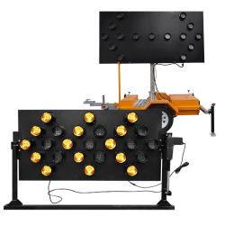 方向トラフィックのトラックによって取付けられる点滅の矢の印のボードのコントローラLEDランプのトレーラーの投射の警告の表示燈