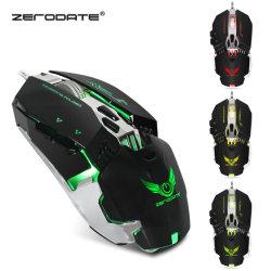 Promo de OEM con 7 botones de alta calidad 3200 dpi Ratón Gaming con cable óptico LED