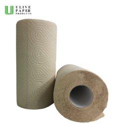 Ulive 2 Ply Super absorvente Bamboo papel de cozinha papel de banho tecido Papel