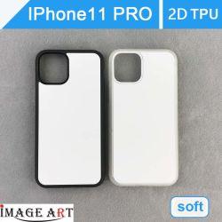 L'iPhone 11 PRO Sublimation vierge TPU 2D/couvercle pour cas de téléphone de transfert de chaleur de l'impression