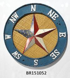Segni della stella del metallo di stile dell'annata della decorazione della parete della barra di hotel retro