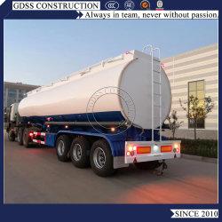 3 Achsen Skeletal Lowbed Chassis 36000cbm 45000 Liter Carbon Steel Tanker Selbst Dump Kipper Aluminium Tank Truck Semi Trailer
