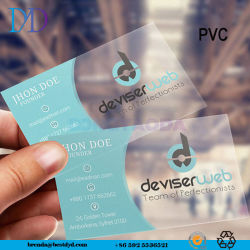 Transparentes Belüftung-Visitenkarte-Drucken