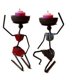 鉄の芸術のハンドメイドの創造的なホーム装飾の蝋燭ホールダー