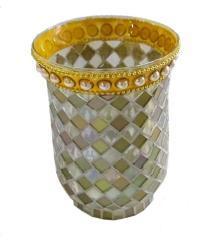 Vetreria Home decorazione Mosaic Candle Jars Mosaic Candle Holder caricati Con cera o senza cera