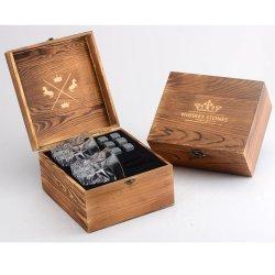Whisky grossista Premium rochas de gelo na caixa de madeira Promocional Conjunto de Oferta óculos de uísque personalizada