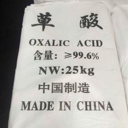 Oxaalzuur 99.6% dihydraat Crystal Powder Needle Industry Tech Grade White Grey Bag voor het verven van textiel Lederen marmer Pools CAS 6153-56-6