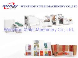 Vollautomatischer quadratischer unterer Nahrungsmittelpapierbeutel-/Kfc-Beutel-Kraftpapier-Hochgeschwindigkeitsbeutel tragen den Beutel, der Maschine herstellt