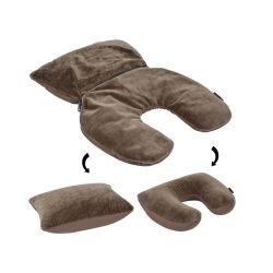 La almohada de viaje Micro-Beads multifunción 2 en 1 Almohada de viaje micro gotas de Viajes Personalizada del sueño en el cuello almohada 2021 para viajes en avión